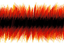 Red distorted oscilloscope abstract. Vector illustration of a red abstract distorted oscilloscope effect. Black stripe for custom elements Stock Image