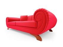 Red divan over white stock illustration