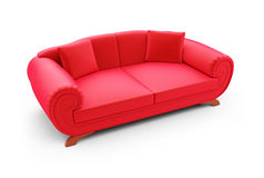 Red divan over white Royalty Free Stock Photo
