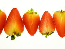 Red divided strawberry Stock Photography