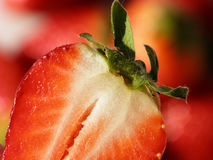 Red divided strawberry Royalty Free Stock Photo