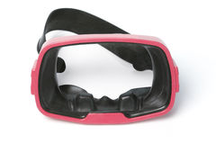 Red diving goggles Stock Images