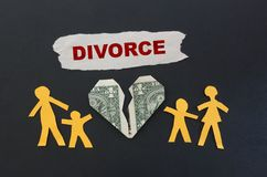 Red divorce text Stock Photo