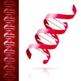 Red DNA Royalty Free Stock Images