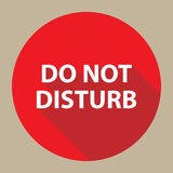 Do Not Disturb Button Stock Image