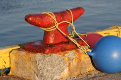 Red Dock Cleat Stock Images