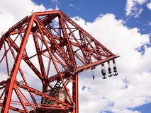 Red Dockyard Crane Stock Image