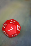 Red dodecahedron. Close-up of a red dodecahedron Stock Image