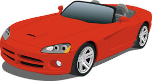 Red Dodge Viper Convertible. A Vector .eps illustration of a Dodge Viper convertible sports car. Saved in layers for easy editing. See my portfolio for more vector illustration