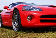 Red Dodge Viper Royalty Free Stock Photo