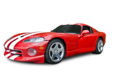 Red Dodge Viper Sports Car