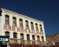 Red Dog Saloon at Virginia City Royalty Free Stock Photos