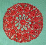 Red doily bis Royalty Free Stock Images