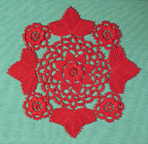 Red doily Royalty Free Stock Images