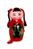 Red doll. Chinese red ceramic dolls Stock Photo