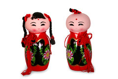 Red doll. Chinese red ceramic dolls Royalty Free Stock Photos