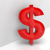 Red dollar sign in 3D Stock Photography