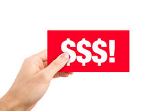 Red Dollar Sign Label Royalty Free Stock Photo