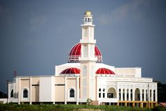 Red domed Mosque Stock Photography