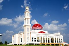 Red Domed Mosque Royalty Free Stock Image