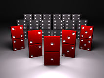 Red domino Royalty Free Stock Images