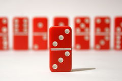Red Dominoes Royalty Free Stock Photos