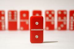 Red Dominoes Royalty Free Stock Image