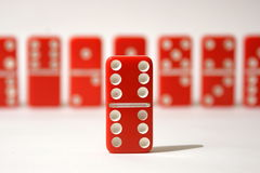 Red Dominoes Stock Images