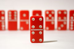 Red Dominoes Royalty Free Stock Photo
