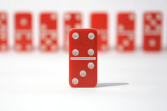 Red Dominoes Royalty Free Stock Photography