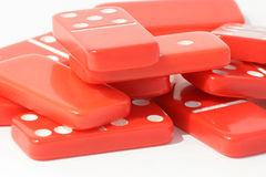 Red Dominoes Stock Photography