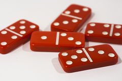 Red Dominoes Stock Photos
