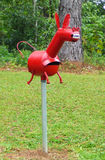 Red Donkey Letterbox Royalty Free Stock Photography