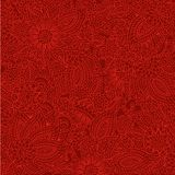 Red Doodle background. Abstract deep red ornate floral doodle backgrounds Stock Photo