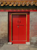 Red Door. A red door in Beijing, China Stock Photos