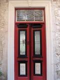 Red door. A beautiful door in Lefkara village, Cyprus Stock Image
