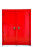 Red door. Chiang mai thailand Royalty Free Stock Photo