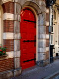 Red Door. In old Amsterdam stock images