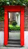 Red door. On luxury townhouse Stock Photography