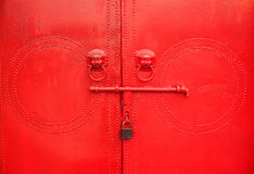 Red Door. A red temple door royalty free stock photo