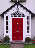 Red door. Red home door (Irland Royalty Free Stock Photos
