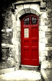 Red Door. Vintage photograph of a Red Door Royalty Free Stock Images