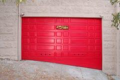 Red door. This is a funny garage door in San Francisco Stock Images