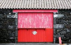 The Red Door Stock Photo