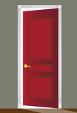 Red Door. 3D image of a red door with white molding Stock Images