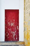 Red Door Accent: Distressed Royalty Free Stock Photography