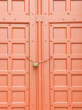 Red Door. Ancient and key Royalty Free Stock Photo