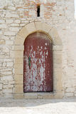 Red Door Arch Stock Photography