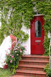 Red door in Blankenese Royalty Free Stock Photos