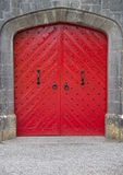 Red door. Of a castle Royalty Free Stock Images